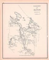 Alton North, New Hampshire State Atlas 1892 Uncolored